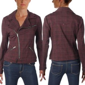 Liverpool Jeans Company Plaid Motorcycle Jacket